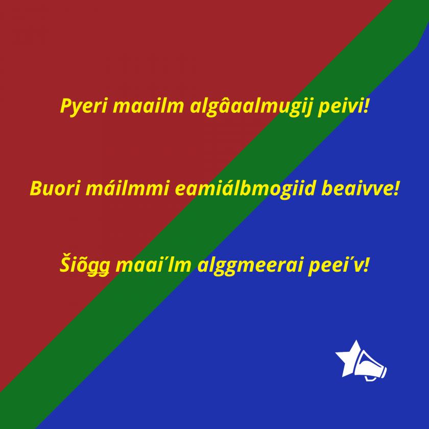 kuva saamelaisten lipun väreissä