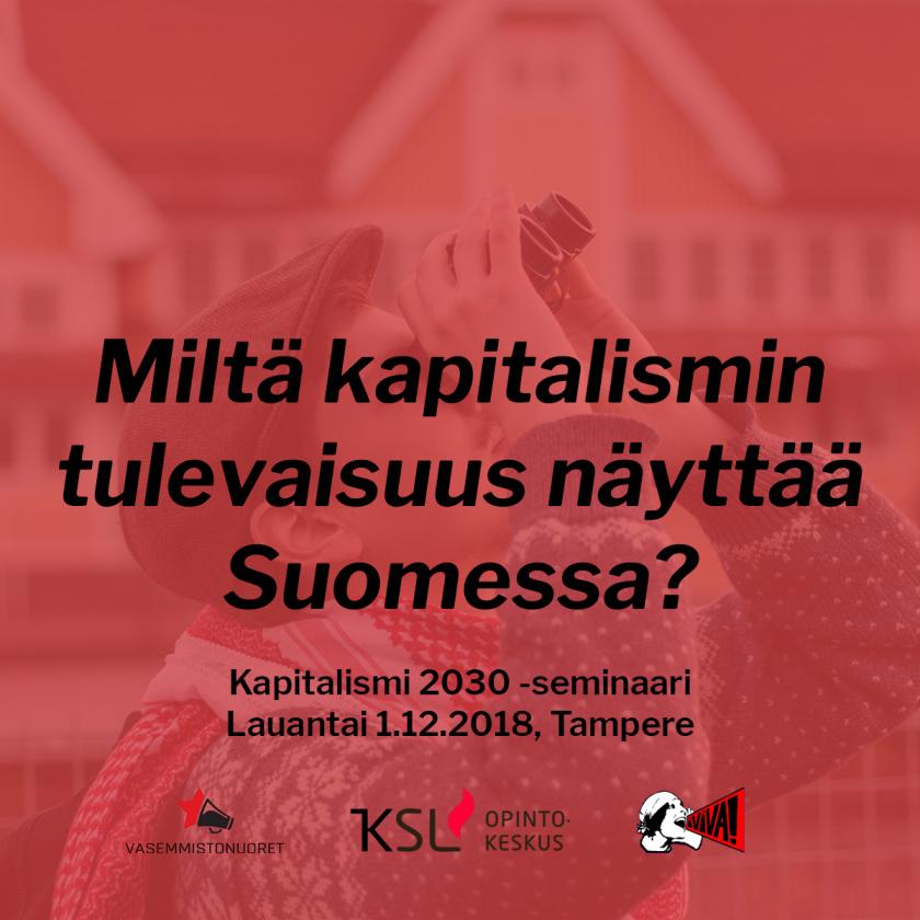 Miltä kapitalismin tulevaisuus näyttää Suomessa? - teksti