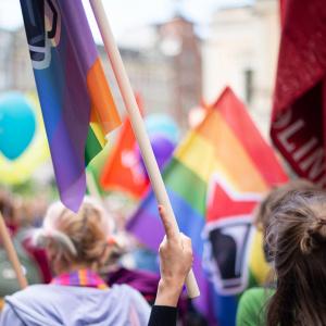 Pride-kulkue, Vasemmistonuorten lippuja.