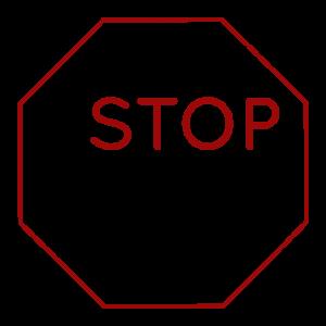 """Kahdeksankulmion sisällä teksti """"#STOPsote"""""""