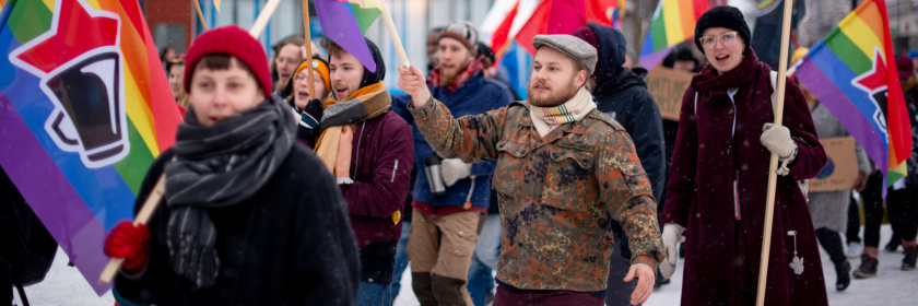Mielenosoitus talvella
